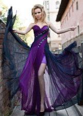 Вечернее фиолетовое платье от Оксаны мухи