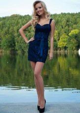Вечернее синее платье от Оксаны мухи