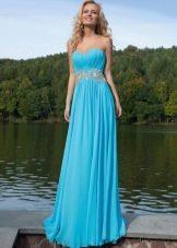 Вечернее платье от Оксаны мухи голубое