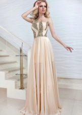 Вечернее платье от Оксаны мухи со стразами