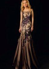 Вечернее платье от Оксаны мухи черное