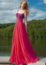 Вечернее платье от Оксаны мухи красное