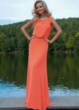 Вечернее платье от Оксаны мухи коралловое