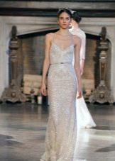 Свадебное платье полностью украшенное стразами
