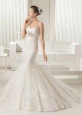 Свадебное платье 2015 от Роза Клара русалка кружевная