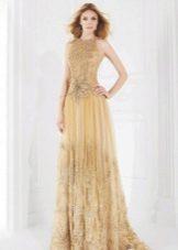 Свадебное платье золотистого цвета