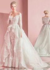 Свадебное платье от Зухаира Мурада 2016 кружевное пышное