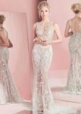 Свадебное платье от Зухаира Мурада 2016 прямое кружевное
