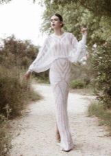 Закрытое свадебное платье с длинным рукавом 2016