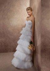 Свадебное платье многоярусное из коллекции Волшебные сны от gabbiano