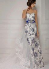 Свадебное платье цветное из коллекции Венеция от Габбиано