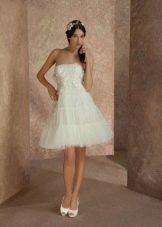 Свадебное платье  короткое из коллекции Волшебные сны от gabbiano