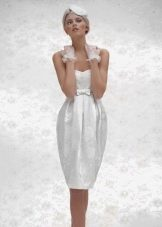 короткое свадебное платье от Габбиано