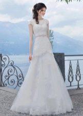 Свадебное платье а-силуэта от Габбиано