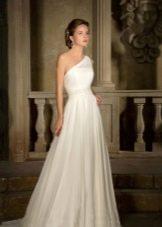 Свадебное платье на одно плечо от Габбиано