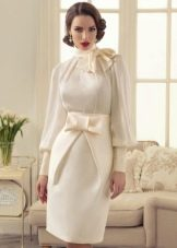 Свадебное платье короткое закрытое из коллекции Утомленные роскошью Татьяны Каплун