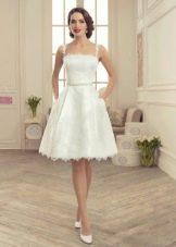 Свадебное платье короткое с пышной юбкой из коллекции Утомленные роскошью Татьяны Каплун