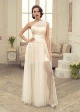 Свадебное платье с прозрачным верхом от Татьяны Каплун