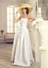 Свадебное платье с пуговицами от Татьяны Каплун