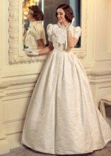 Свадебное платье с пышное с коротким  рукавом из коллекции Jazz Sounds Татьяны Каплун
