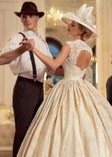 Свадебное платье с вырезом на спине из коллекции Jazz Sounds Татьяны Каплун