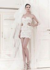 Свадебное платье из коллекции 2014 короткое