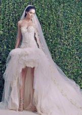 Свадебное платье хай-лоу от Зухаира Мурада из коллекции 2014