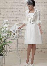 Свадебное платье короткое из коллекции Love & Lacky