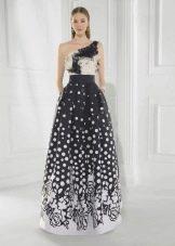 вечернее платье 2016 пышное бело-черное