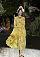 Dolce & Gabbana вечернее платье с принтом 2016