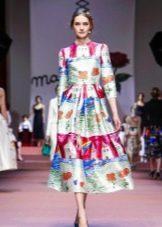 вечернее платье с принтом 2016 от Дольче Габбана