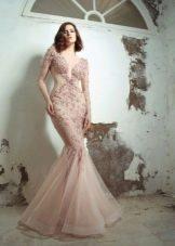 Розовое платье русалка 2016