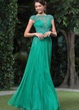 Зеленое вечернее платье для нового года 2016