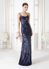 Синее платье вечернее для Нового года 2016