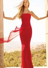 Выпускное платье красное 2016