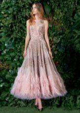 Вечернее платье для выпускного миди 2016