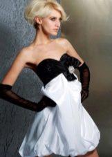 Выпускное короткое платье с юбкой баллон
