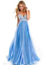 вечернее платье на выпускной голубое
