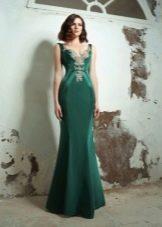 Вечернее зеленое платье на выпускной