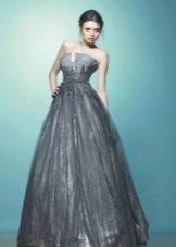 Вечернее платье на выпускной серое