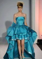 Короткое выпускное платье со съемной юбкой