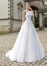 Свадебное платье а-силуэта от Армонии