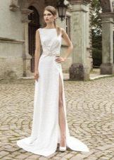 Свадебное платье с разрезом от Армония