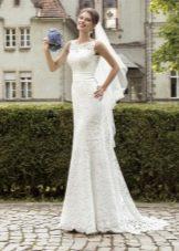 Свадебное платье кружевное а-силуэта от Армонии