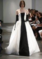 Чело-черное свадебное платье от Веры Вонг