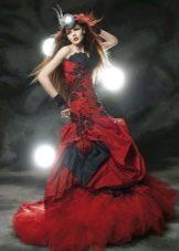 красно-черное свадебное платье