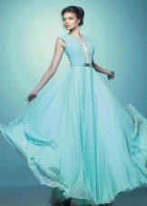 Свадебное платье ампир бирюзового цвета