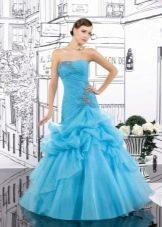Свадебное платье русалка в голубых тонах
