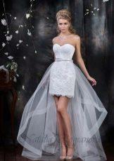 Свадебное платье из коллекции EUROPE COLLECTION короткое со шлейфом