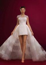 Свадебное платье из коллекции Аристократка короткое со шлефом
